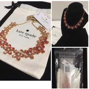 🆕KATE SPADE ♠️- PINK FLORAL BED OF ROSES NECKLACE